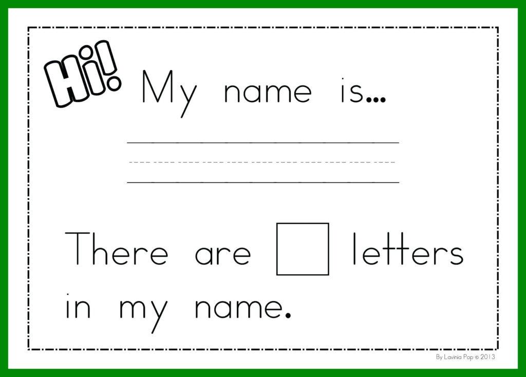 Preschool Name Tracing Worksheets Free   Clover Hatunisi With Regard To Name Tracing Worksheets Kindergarten