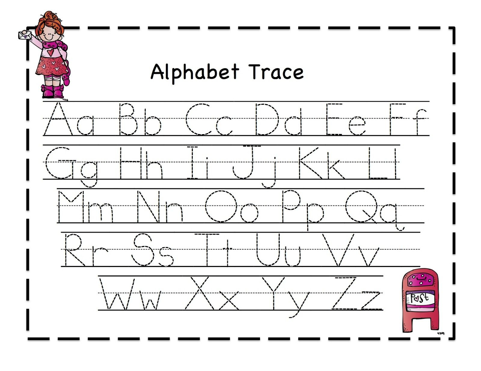 Preschool Printables: Valentine   Alphabet Tracing regarding Alphabet Tracing Kindergarten