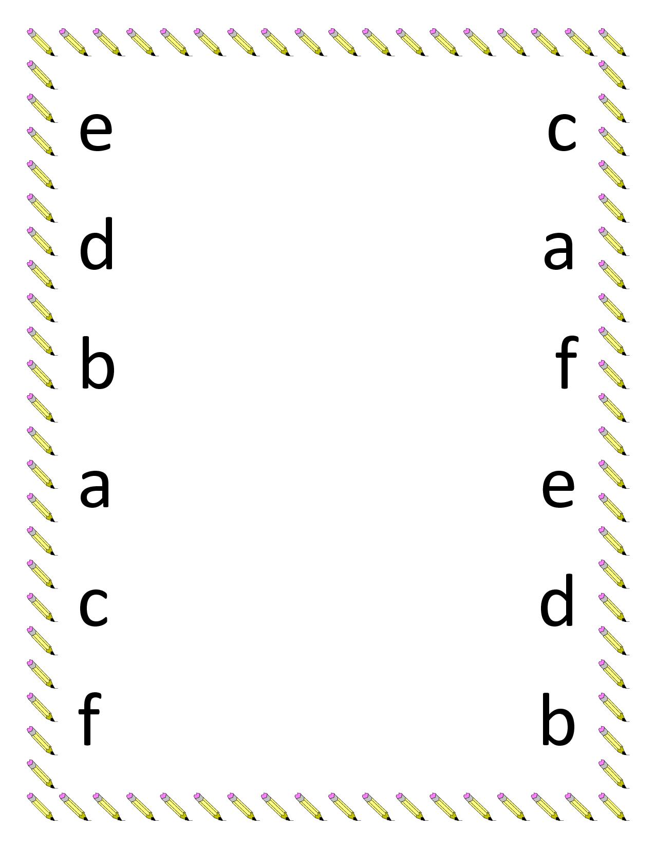 Preschool Science Worksheets Printables   Preschool Matching in Alphabet Matching Worksheets For Kindergarten Pdf