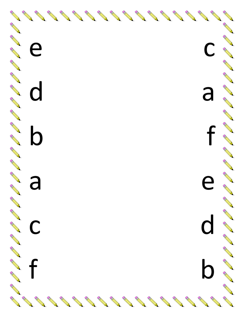 Preschool Science Worksheets Printables | Preschool Matching Throughout Alphabet Matching Worksheets For Pre K