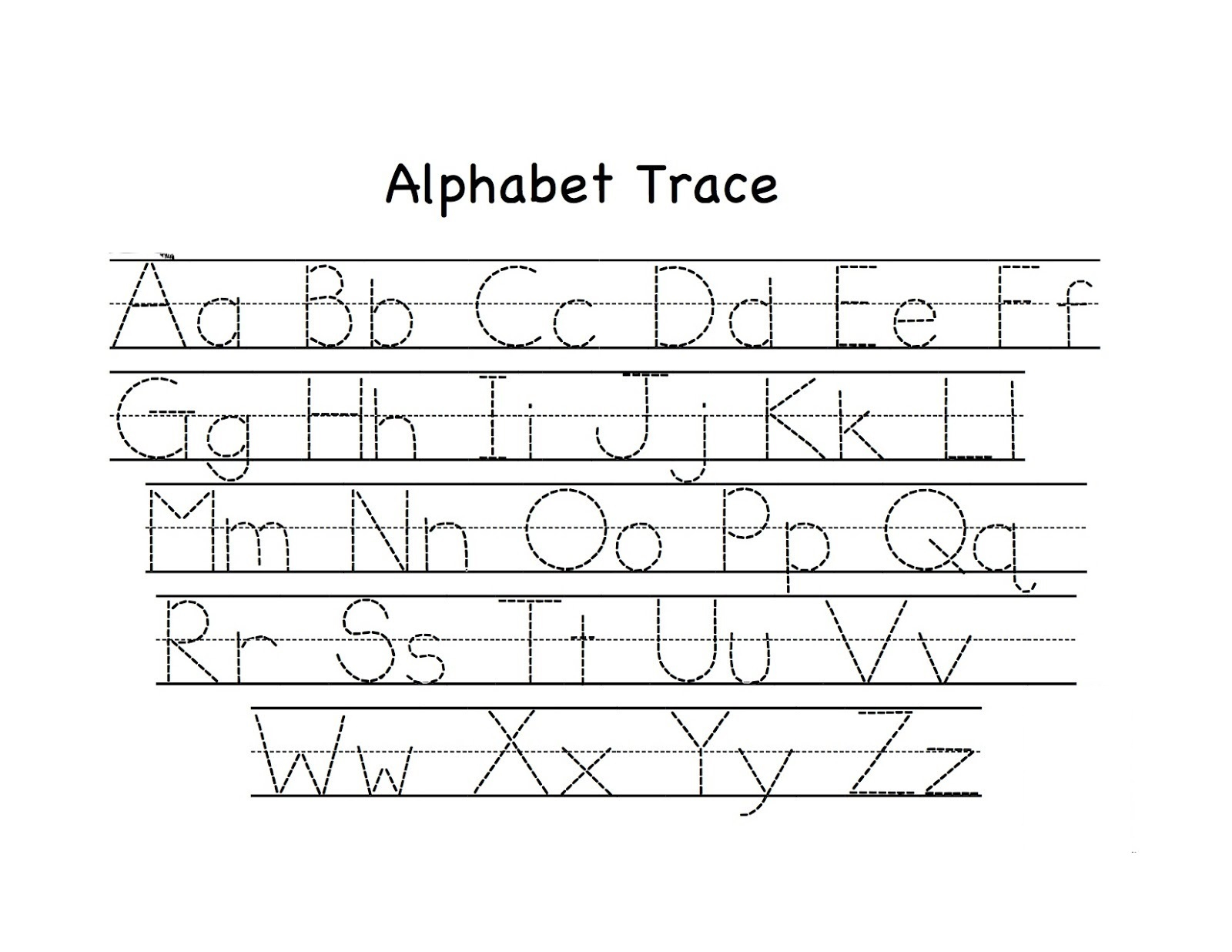 Preschool Tracing Worksheets - Best Coloring Pages For Kids intended for Alphabet Tracing Pages