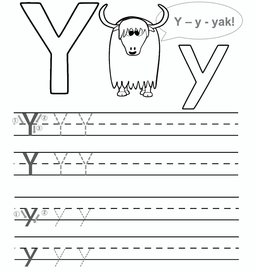 Preschool Worksheet Gallery: Letter Y Worksheets For Preschool in Letter Y Worksheets