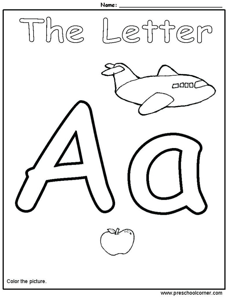 Preschool Worksheet On Letters   Clover Hatunisi Throughout Letter A Worksheets Preschool Free