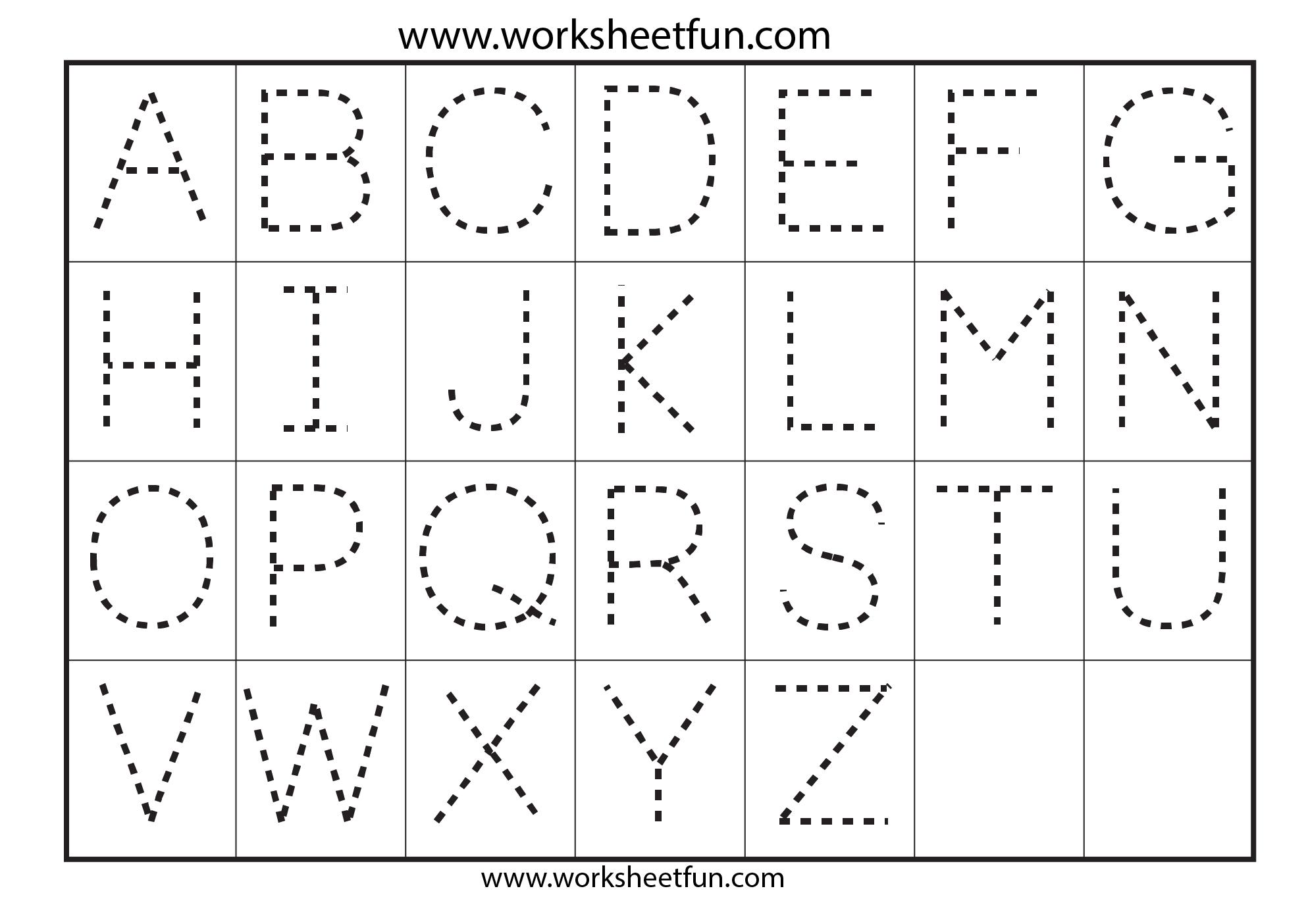 Preschool Worksheets Alphabet Tracing Letter A | Tracing throughout Alphabet Tracing Printables Free
