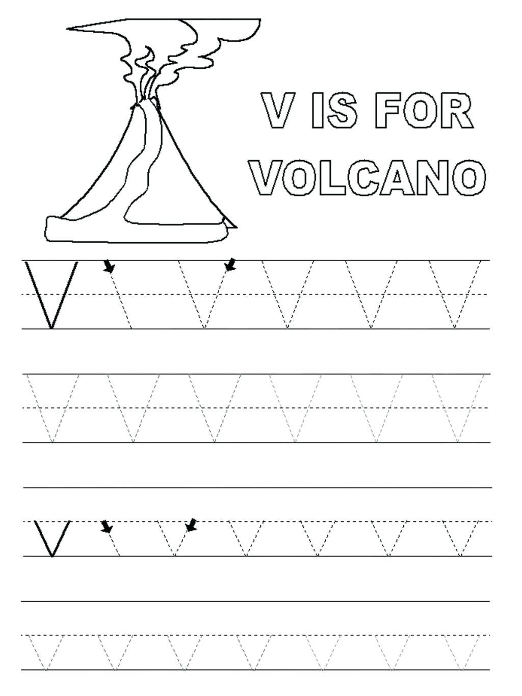 Preschool Worksheets With The Letter V - Clover Hatunisi for Letter V Tracing Preschool