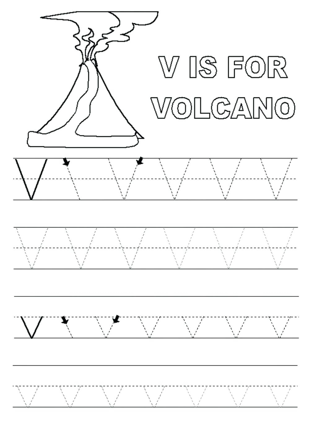 Preschool Worksheets With The Letter V - Clover Hatunisi pertaining to Letter V Tracing Sheet