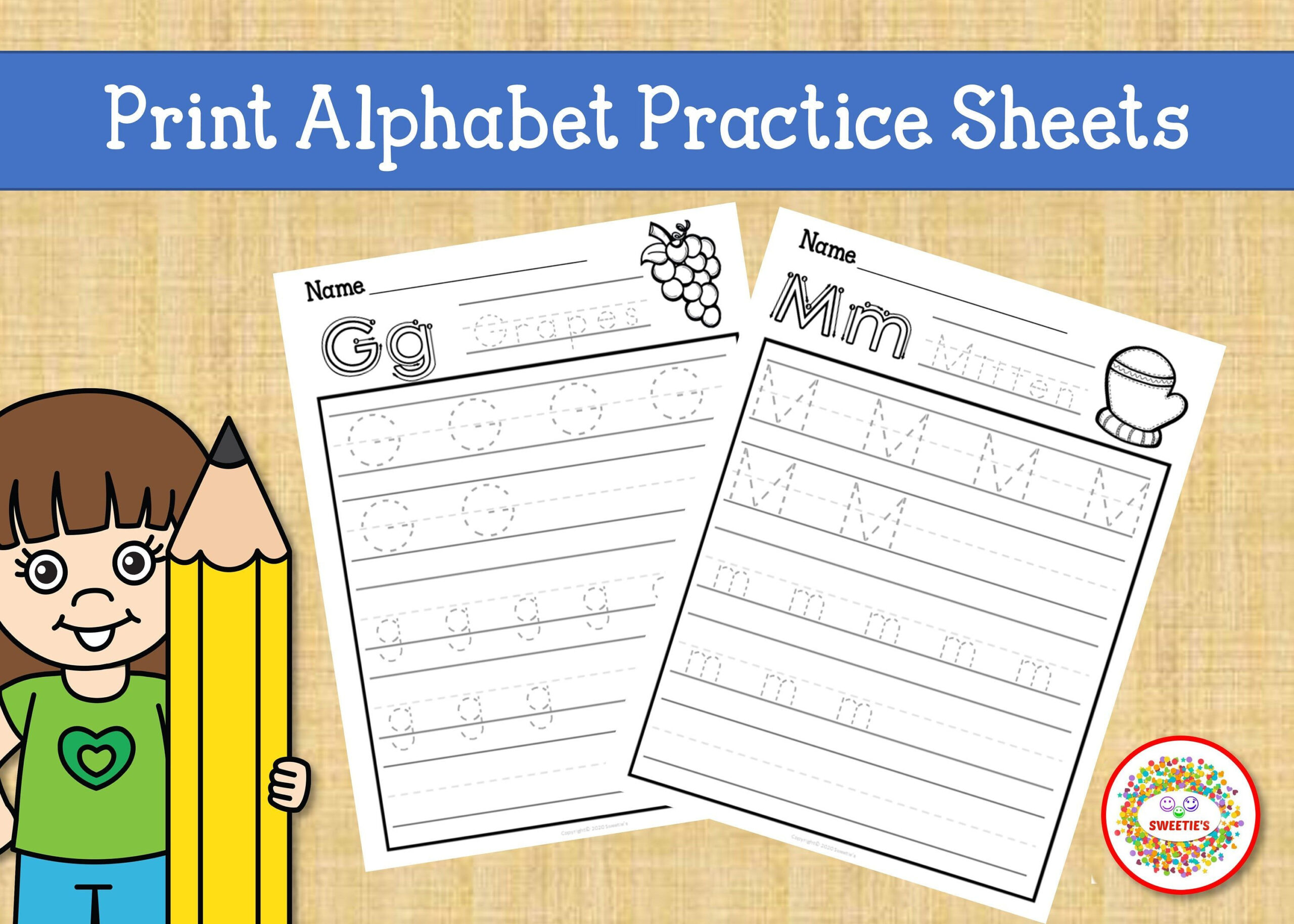 Print Handwriting Practice Worksheets, Alphabet Tracing with regard to Name Tracing Guide