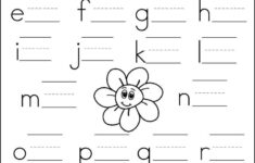 Alphabet Practice Worksheets For Kindergarten