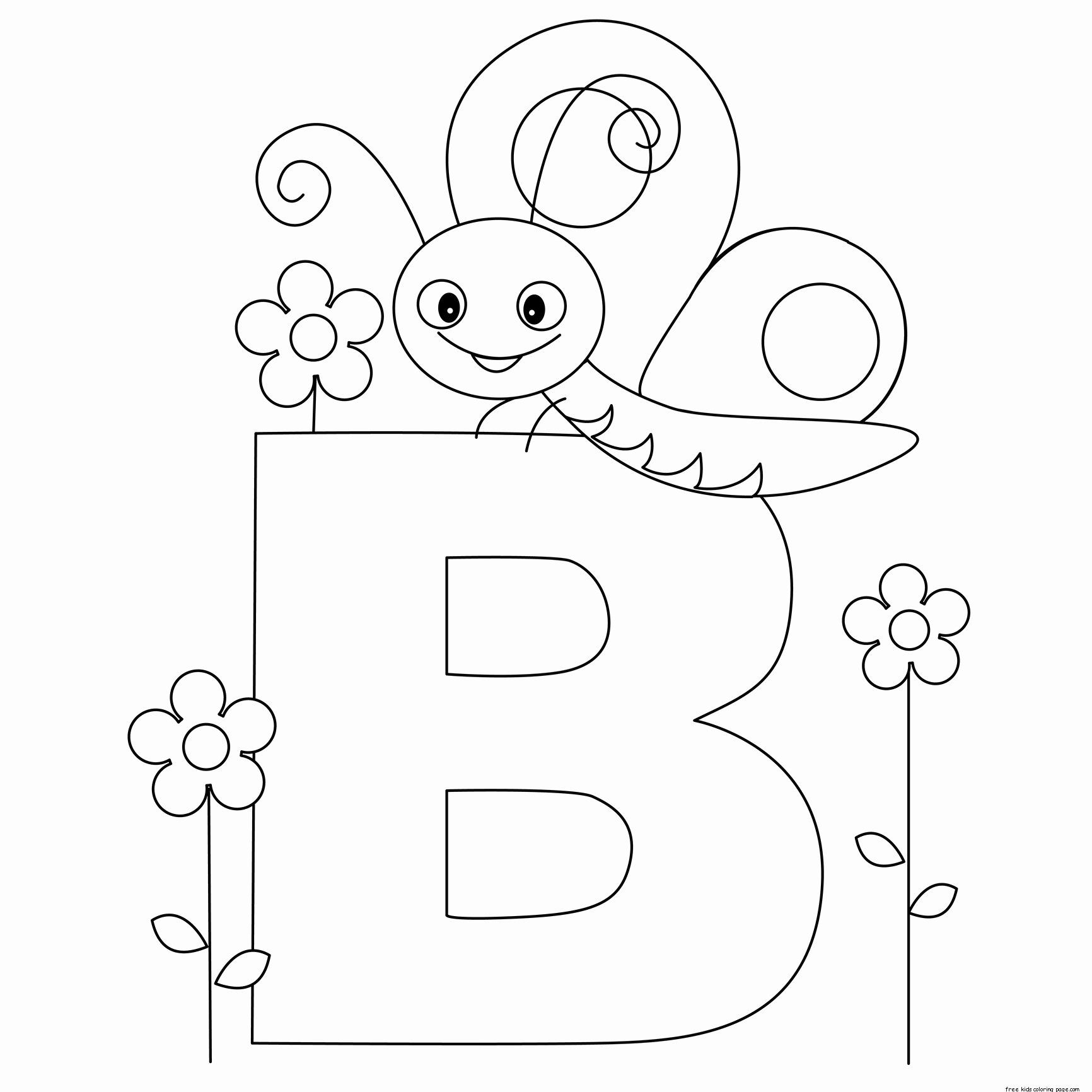 Printable Alphabet Coloring Pages | Haramiran with regard to Alphabet Coloring Worksheets For Kindergarten
