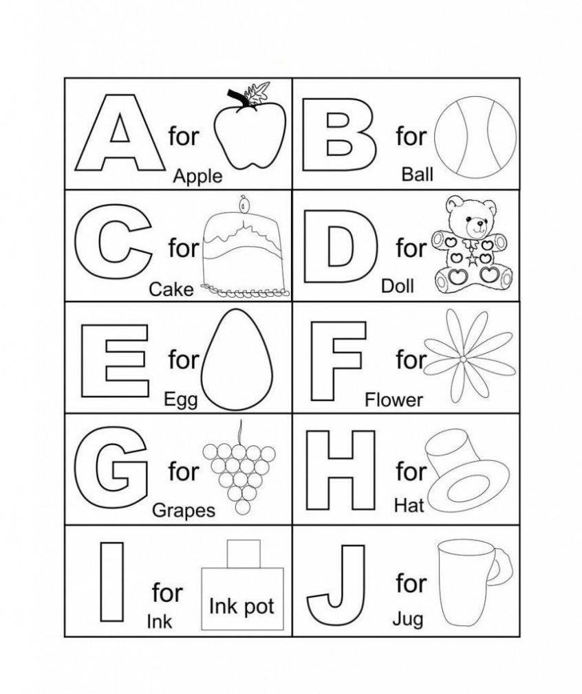 Printable Alphabet Coloring Pages Letter Of The Alphabet Tag throughout Alphabet Coloring Worksheets For Kindergarten