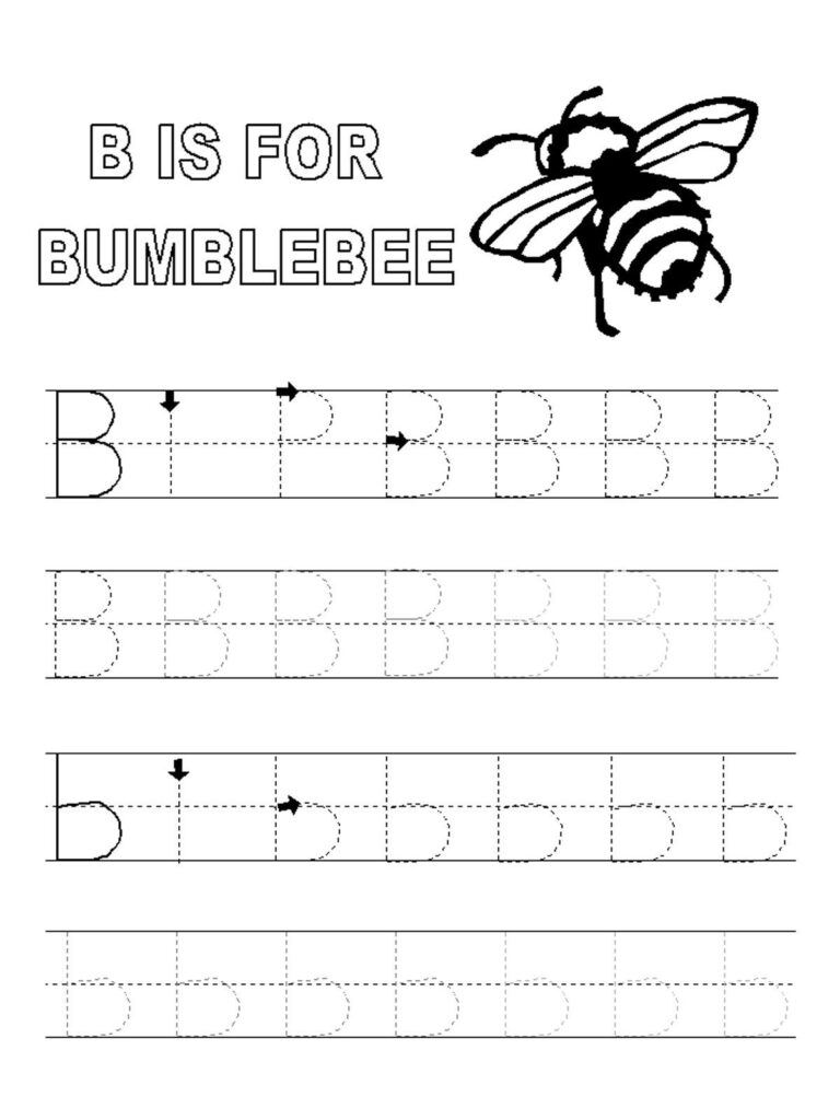 Printable Alphabet Tracing Pages | Tracing Worksheets With Letter B Tracing Pages