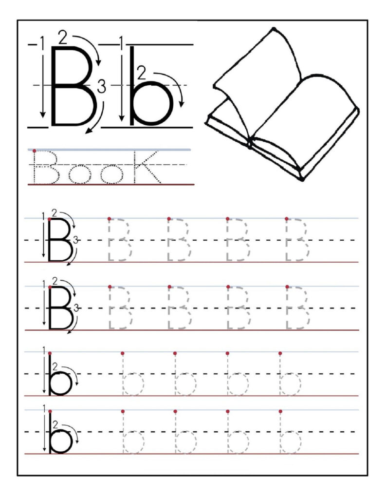Printable Alphabet Tracing Worksheets For Pre K Throughout Alphabet Tracing Handwriting Worksheets