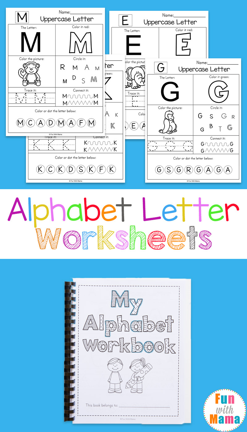 Printable Alphabet Worksheets To Turn Into A Workbook - Fun for Letter A Worksheets Preschool Free