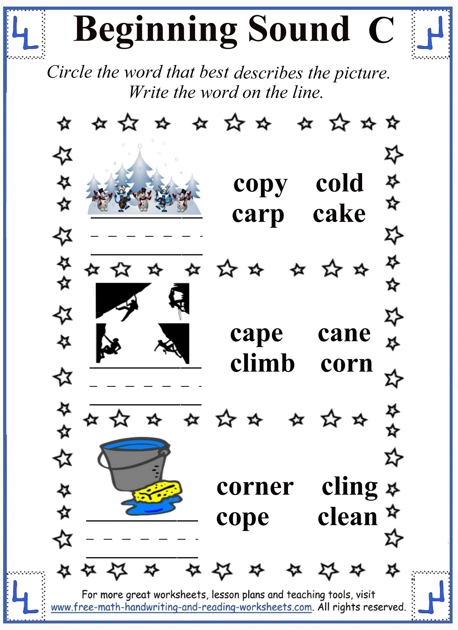Printable Letter C Worksheets & Activities in Letter C Worksheets For First Grade
