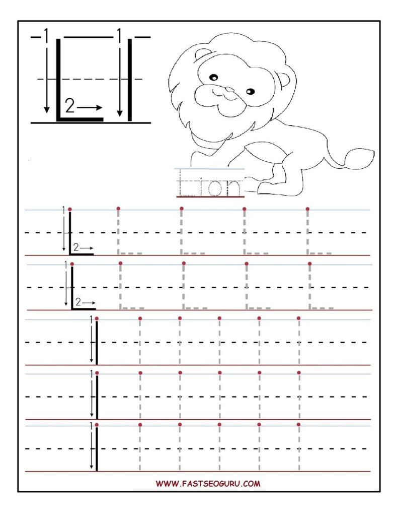 Printable Letter L Tracing Worksheets For Preschool Throughout Letter L Worksheets For Preschool