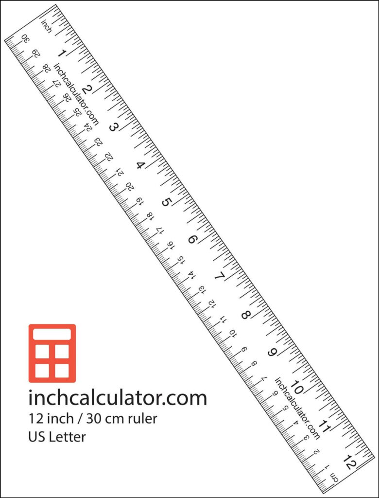 """Printable Rulers   Free Downloadable 12"""" Rulers   Printable Within Letter Tracing Ruler"""