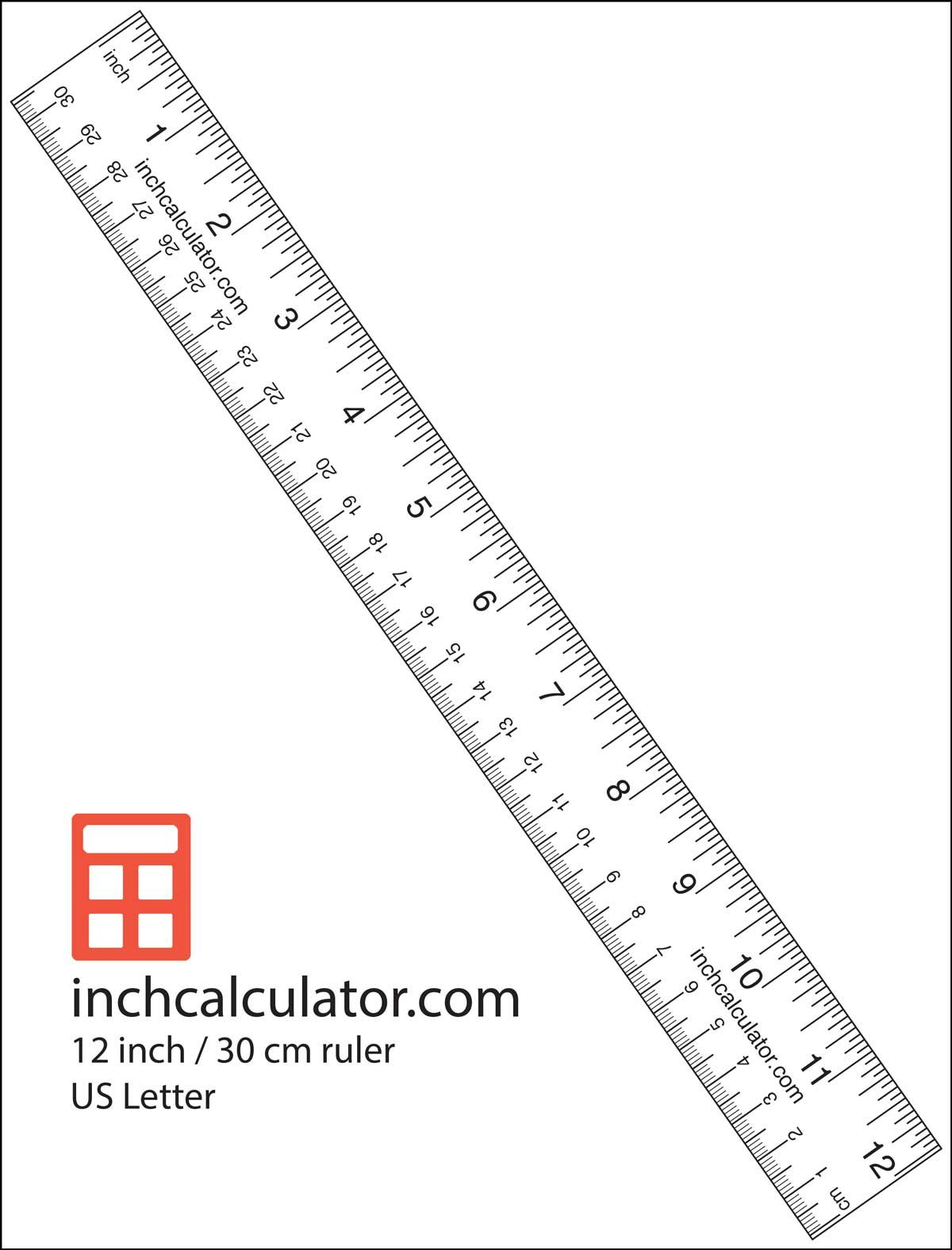 """Printable Rulers - Free Downloadable 12"""" Rulers   Printable within Letter Tracing Ruler"""