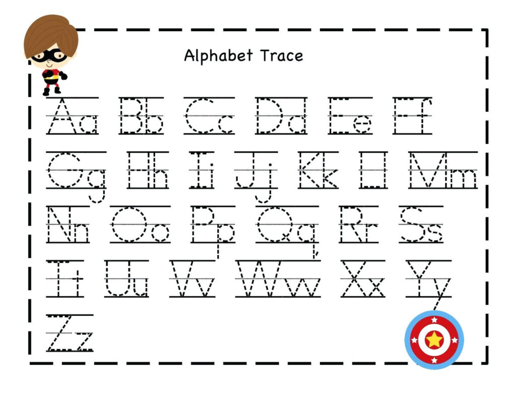 Printable Tracing Worksheet For 3 Years Old | Printable Within Alphabet Tracing For 4 Year Old