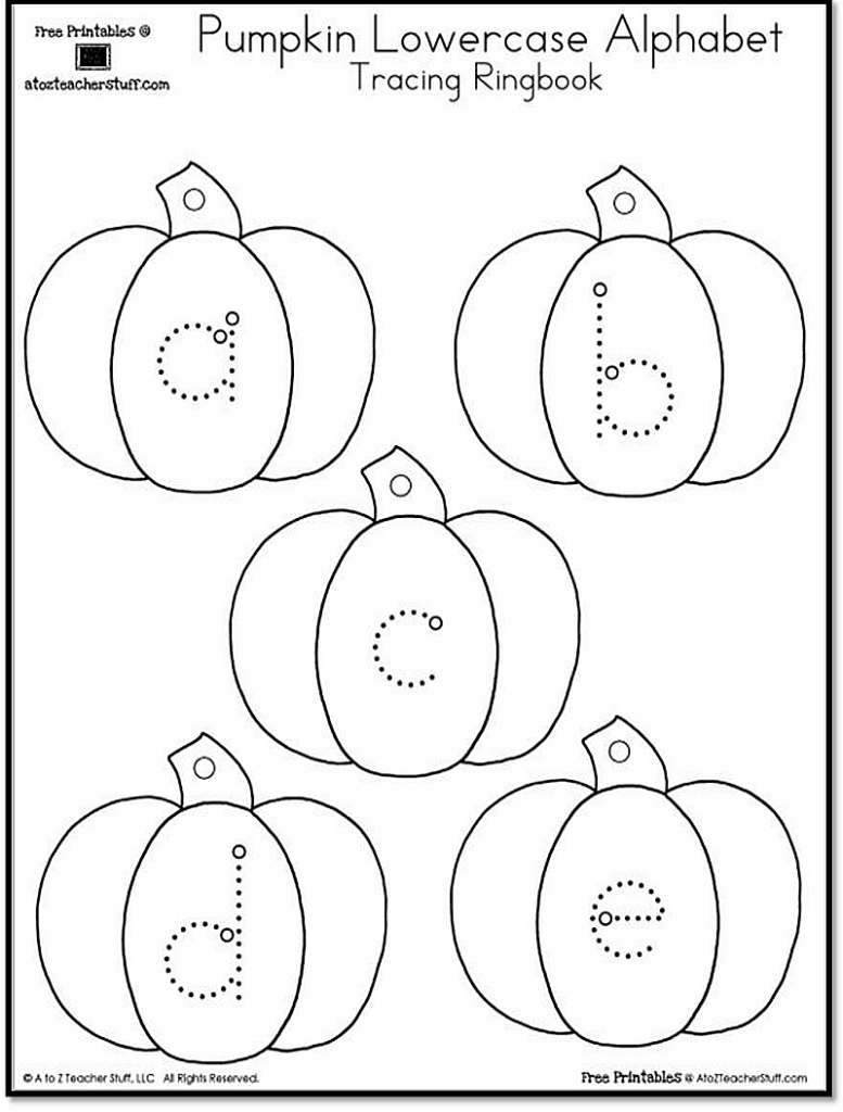 Pumpkin Lowercase And Uppercase Tracing Alphabet | A To Z Intended For Uppercase Alphabet Tracing