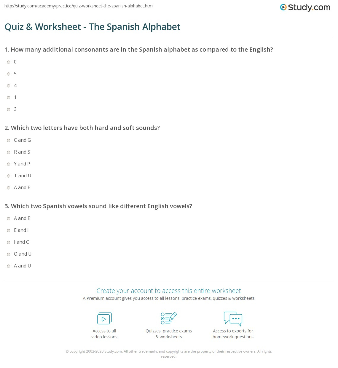 Quiz & Worksheet - The Spanish Alphabet | Study inside Alphabet Worksheets In Spanish