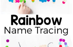 Rainbow Name Tracing Activity – Preschool Inspirations for Name Tracing Beginner