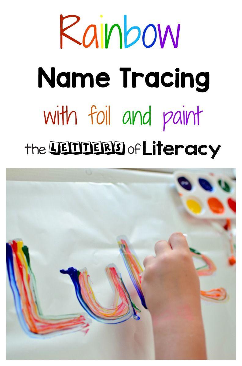 Rainbow Name Tracing Art Activity | Writing Activities For pertaining to Rainbow Name Tracing