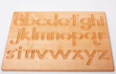 Alphabet Tracing Board Wooden