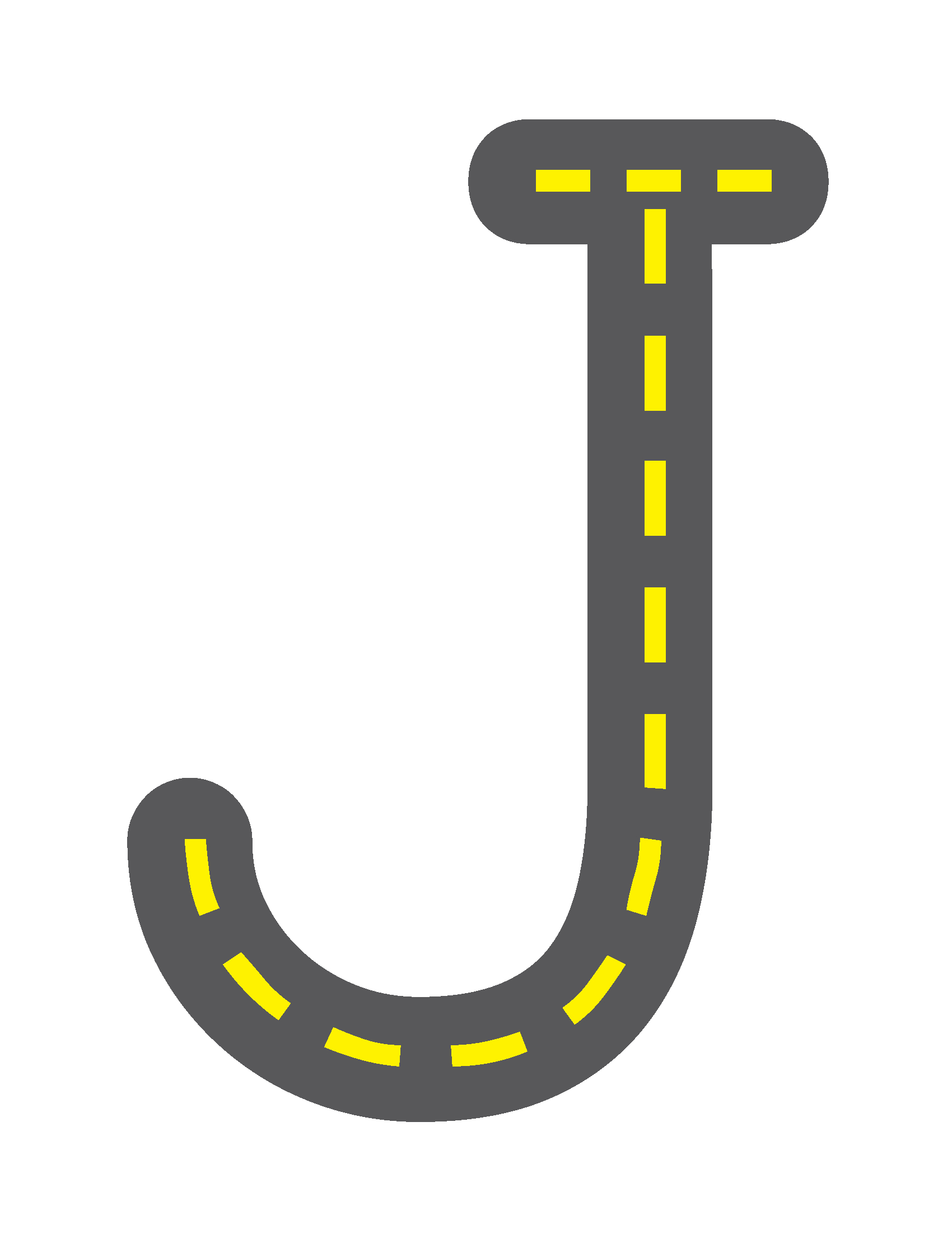 Road Letters | Teaching The Alphabet, Lettering, Writing in Alphabet Tracing Road