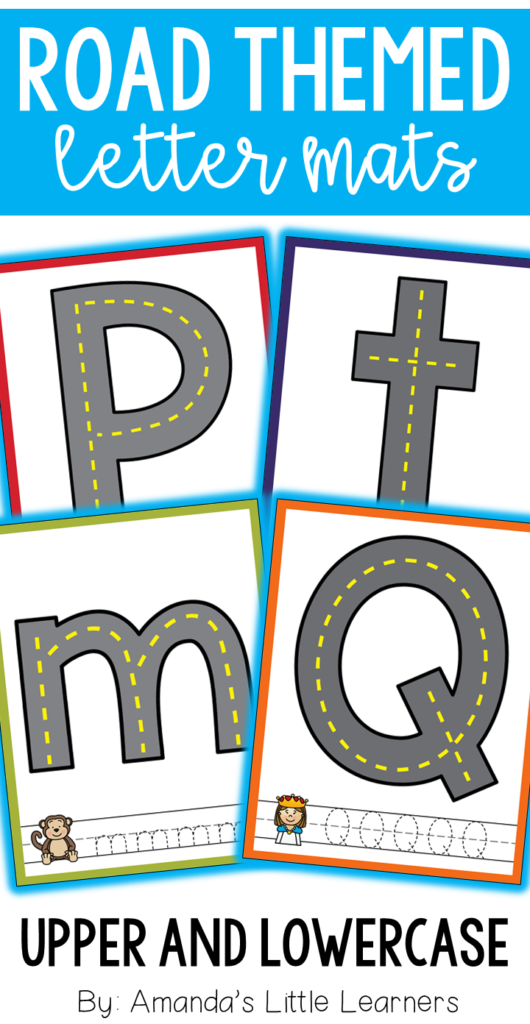 Road Themed Letter Mats   Playdough Or Cars | Letter Sounds In Alphabet Road Tracing Book