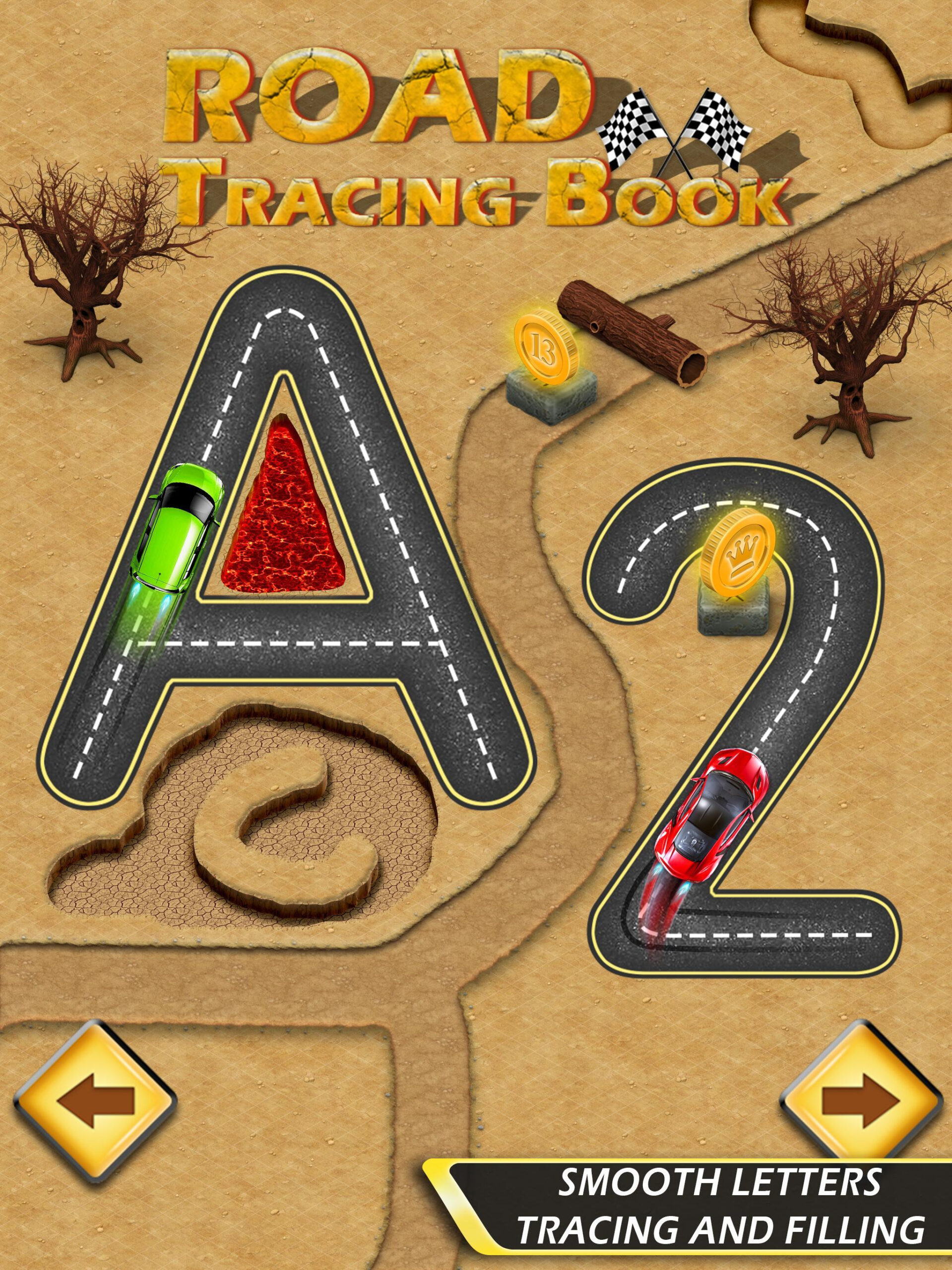 Road Tracing Book - Alphabets & Numbers Tracing For Android with Alphabet Road Tracing Book
