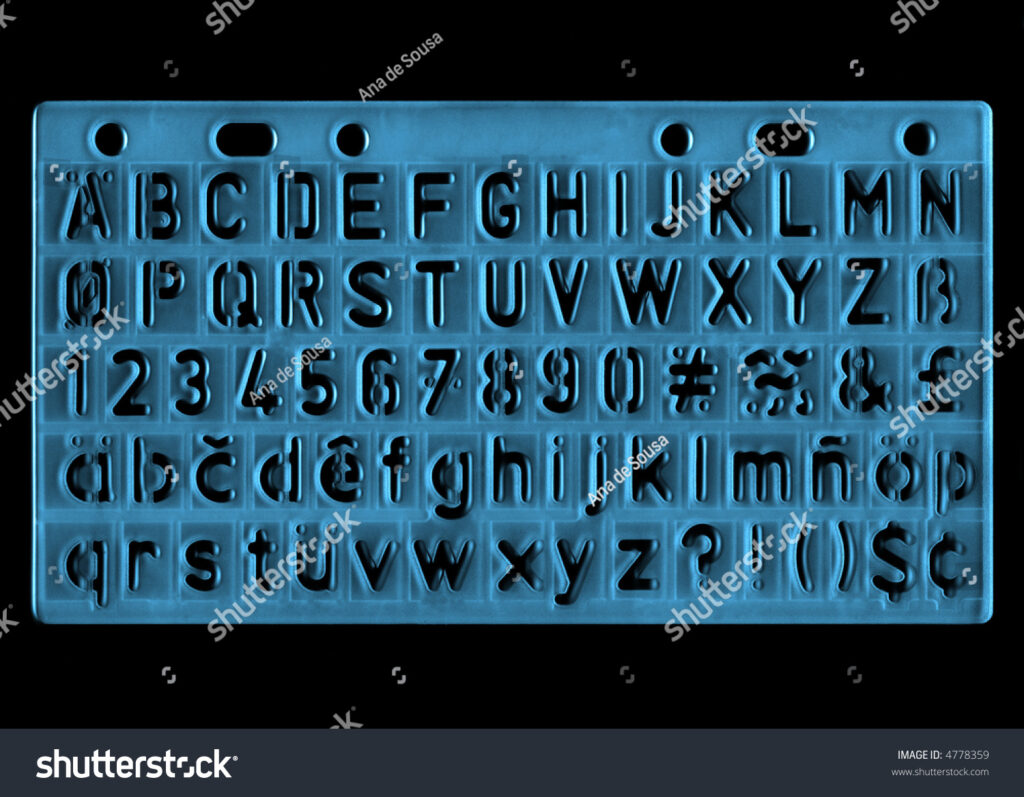 Ruler Alphabet Letter Trace Stock Photo (Edit Now) 4778359 For Letter Tracing Ruler