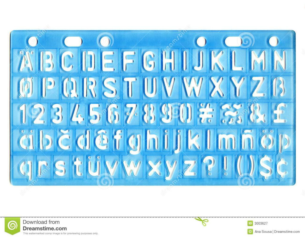 Ruler Stock Image. Image Of Letter, Educate, Numbers With Alphabet Tracing Ruler