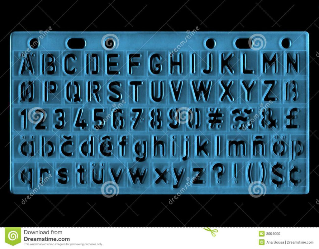 Ruler Stock Photo. Image Of Nobody, Draw, Education, Learn Within Letter Tracing Ruler