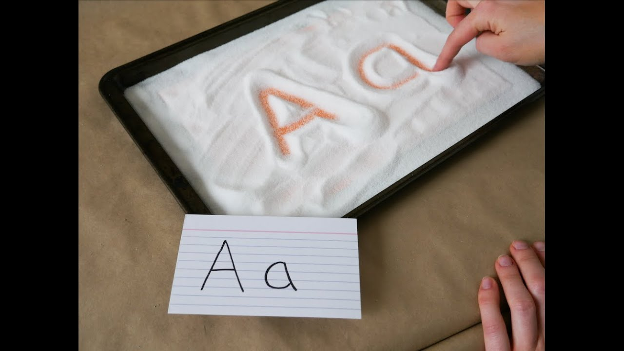 Salt Tray Writing | Preschool Activities pertaining to Letter Tracing In Sand