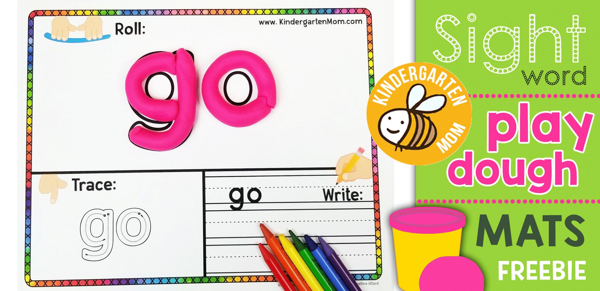Sight Word Play Dough Mats - Kindergarten Mom for Name Tracing Mats