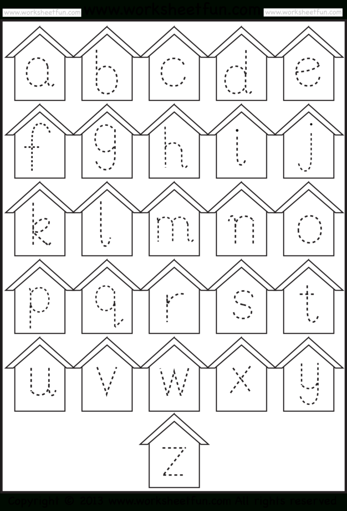 Small Letter Tracing – Lowercase – Worksheet – Birdhouse In Alphabet Tracing Lowercase Letters