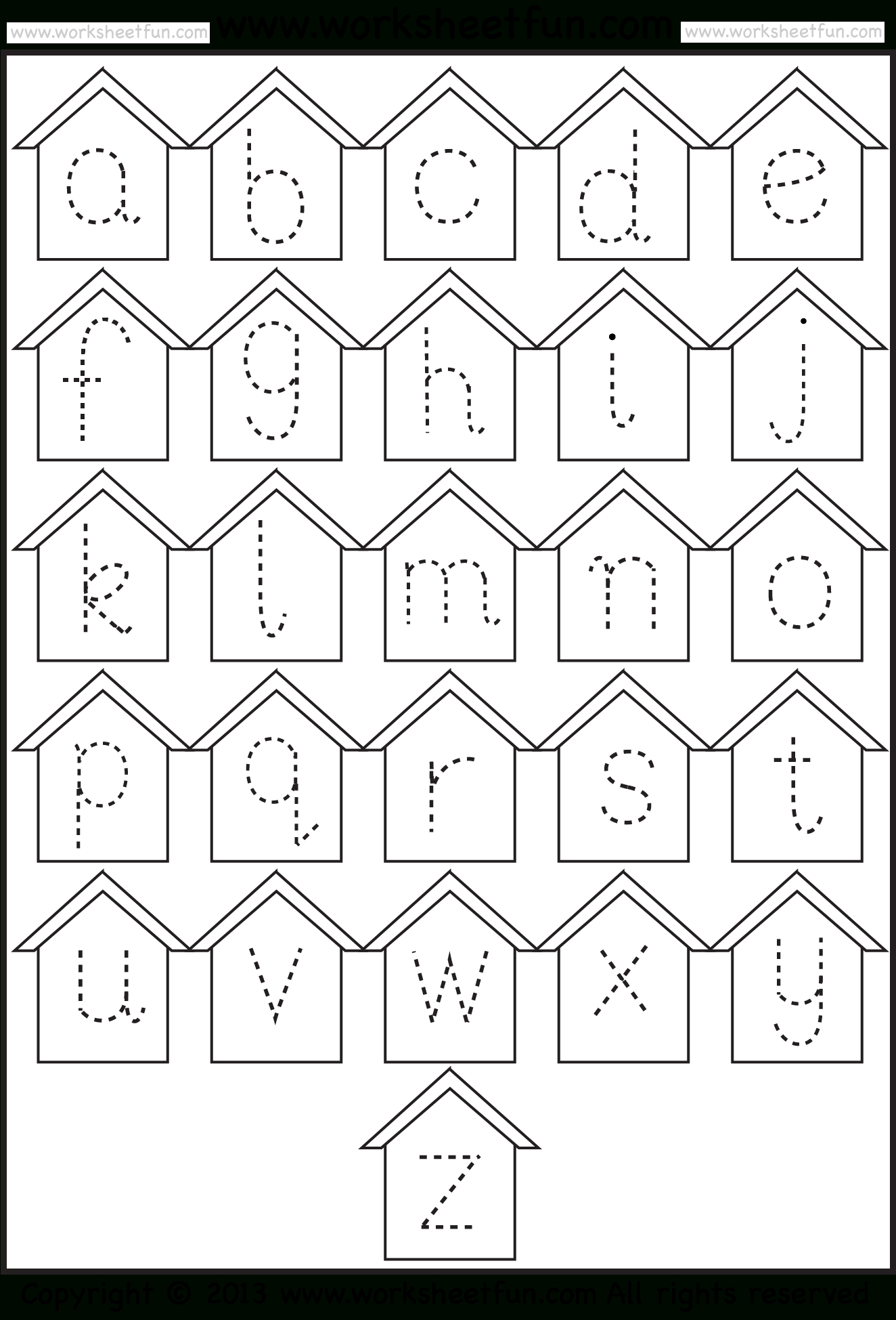 Small Letter Tracing – Lowercase – Worksheet – Birdhouse intended for Alphabet Tracing Worksheets Lowercase