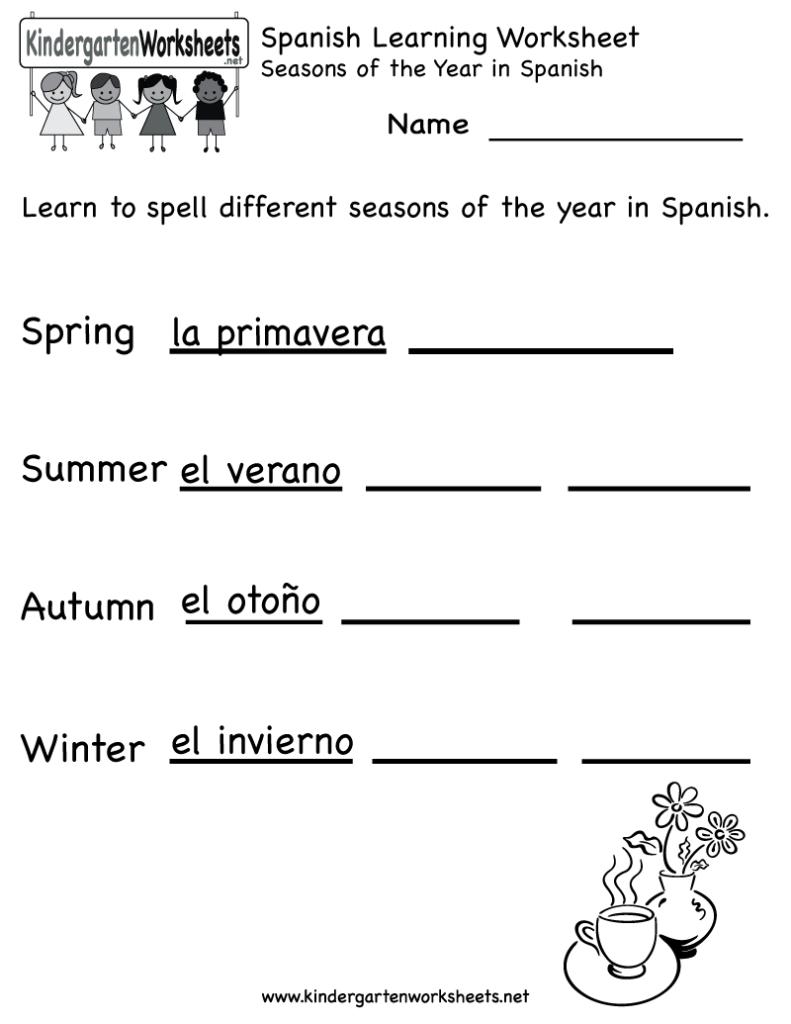 Spanish Worksheets For Kindergarten | Free Spanish Learning Pertaining To Alphabet Worksheets In Spanish
