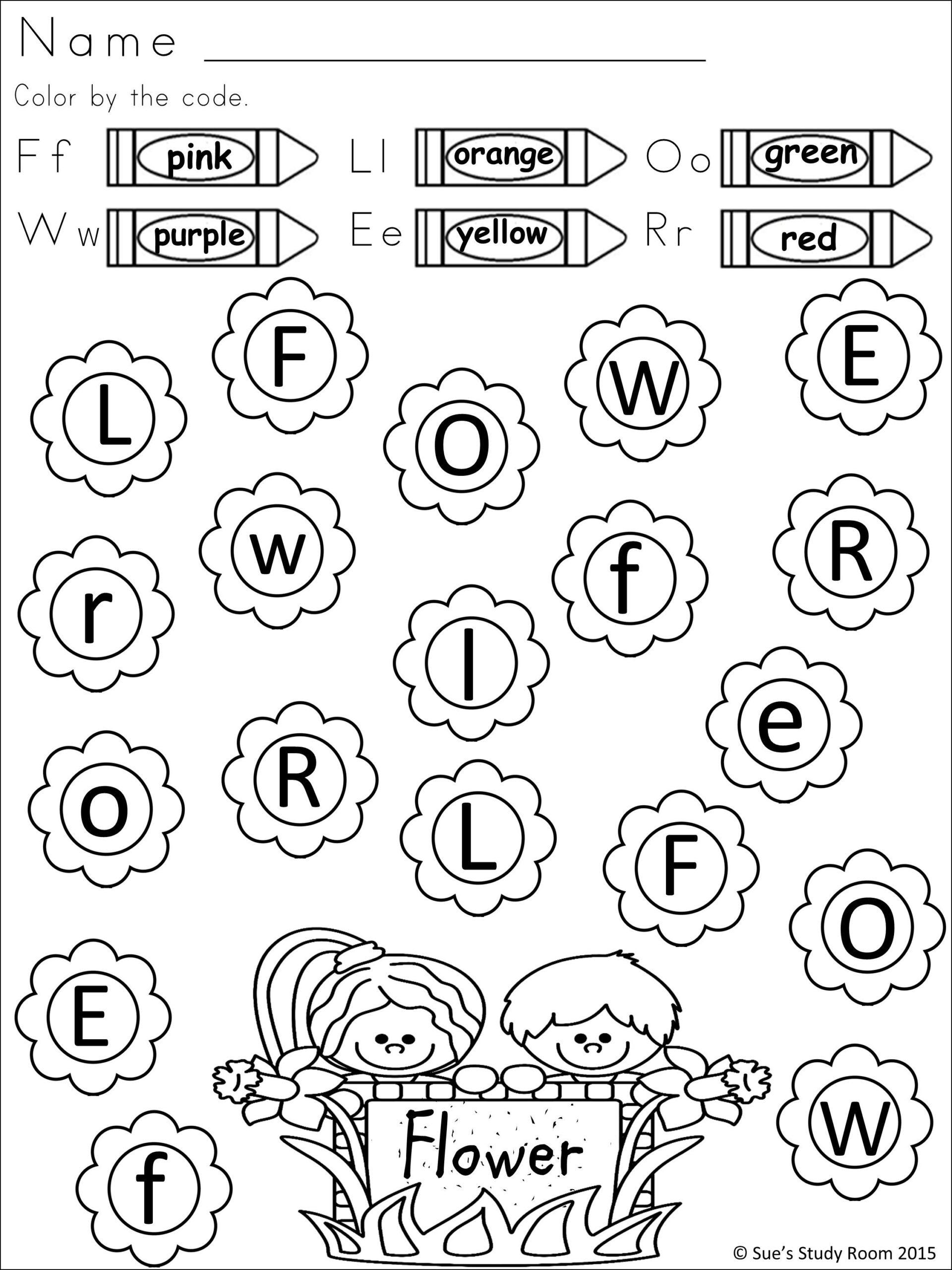 Spring Letter Recognition For Prek And K | Letter for Pre-K Alphabet Recognition Worksheets