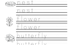 Name Tracing For Kindergarten Free
