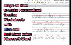 Name Tracing Worksheet Creator