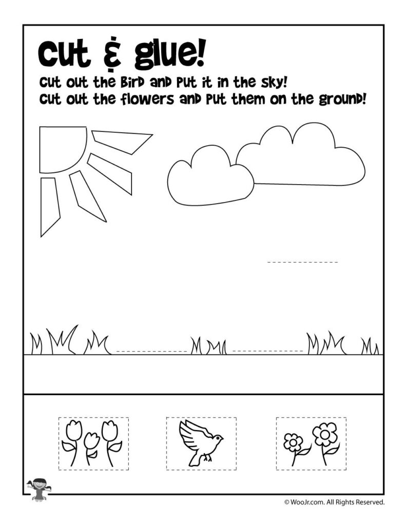 Summer Preschool Worksheets | Summer Preschool With Letter I Worksheets Cut And Paste