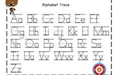 Alphabet Tracing Sheet Free