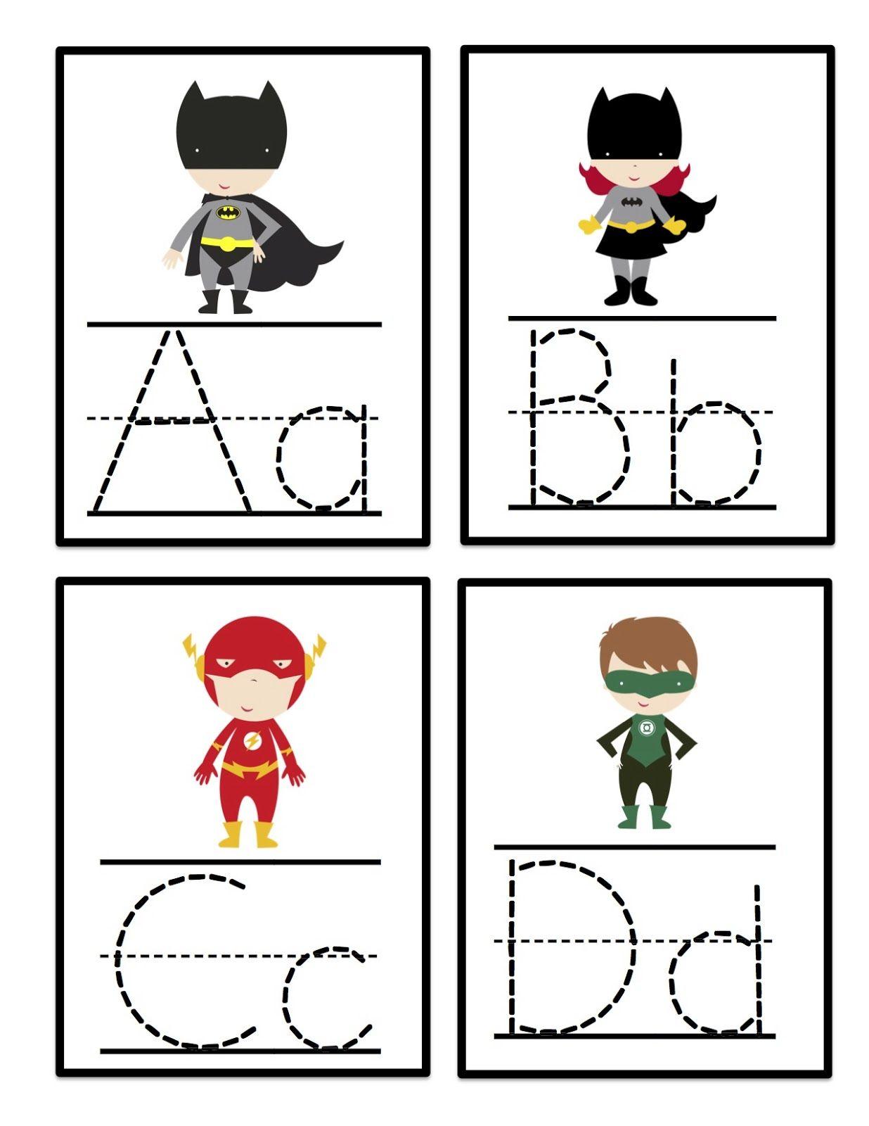 Super Hero Alphabet Tracing Cards | Superhero Preschool with Alphabet Tracing Cards