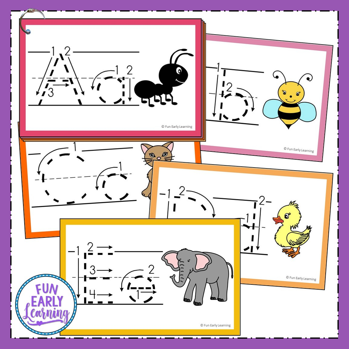 Teach Letters And Writing With Our Free Alphabet Animal in Alphabet Tracing Cards Pdf