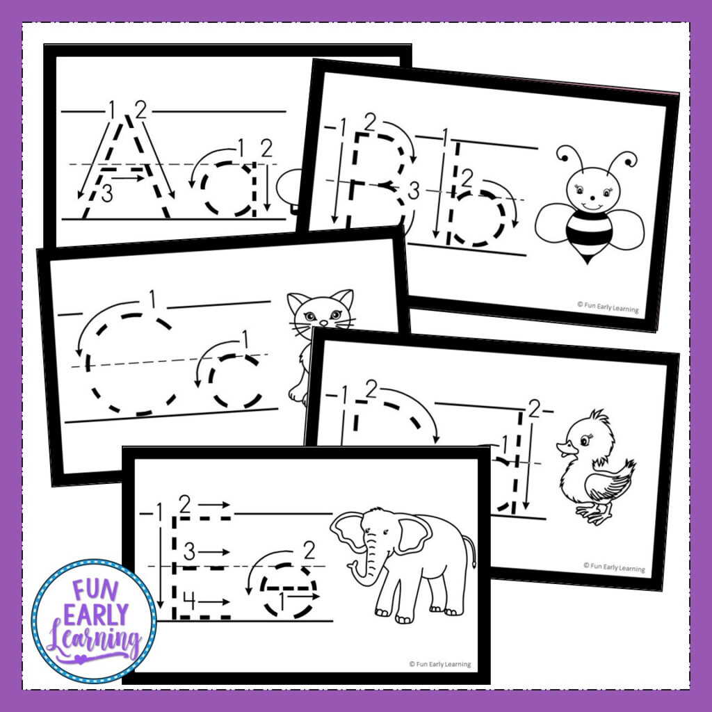 Teach Letters And Writing With Our Free Alphabet Animal Regarding Alphabet Tracing Cards Pdf