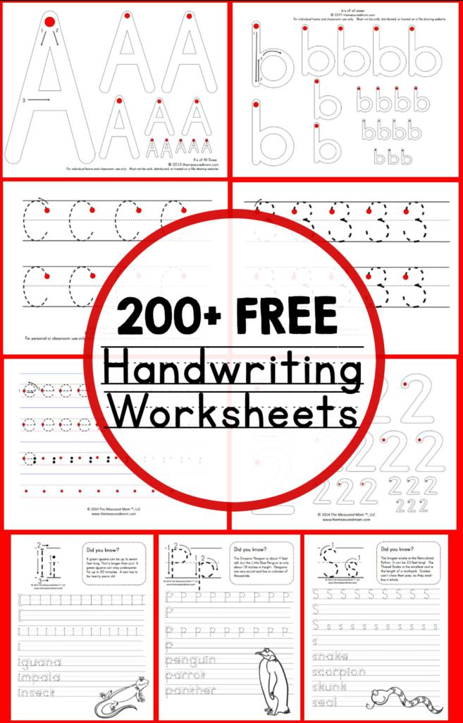 Teaching Handwriting   The Measured Mom With Pre K Alphabet Handwriting Worksheets