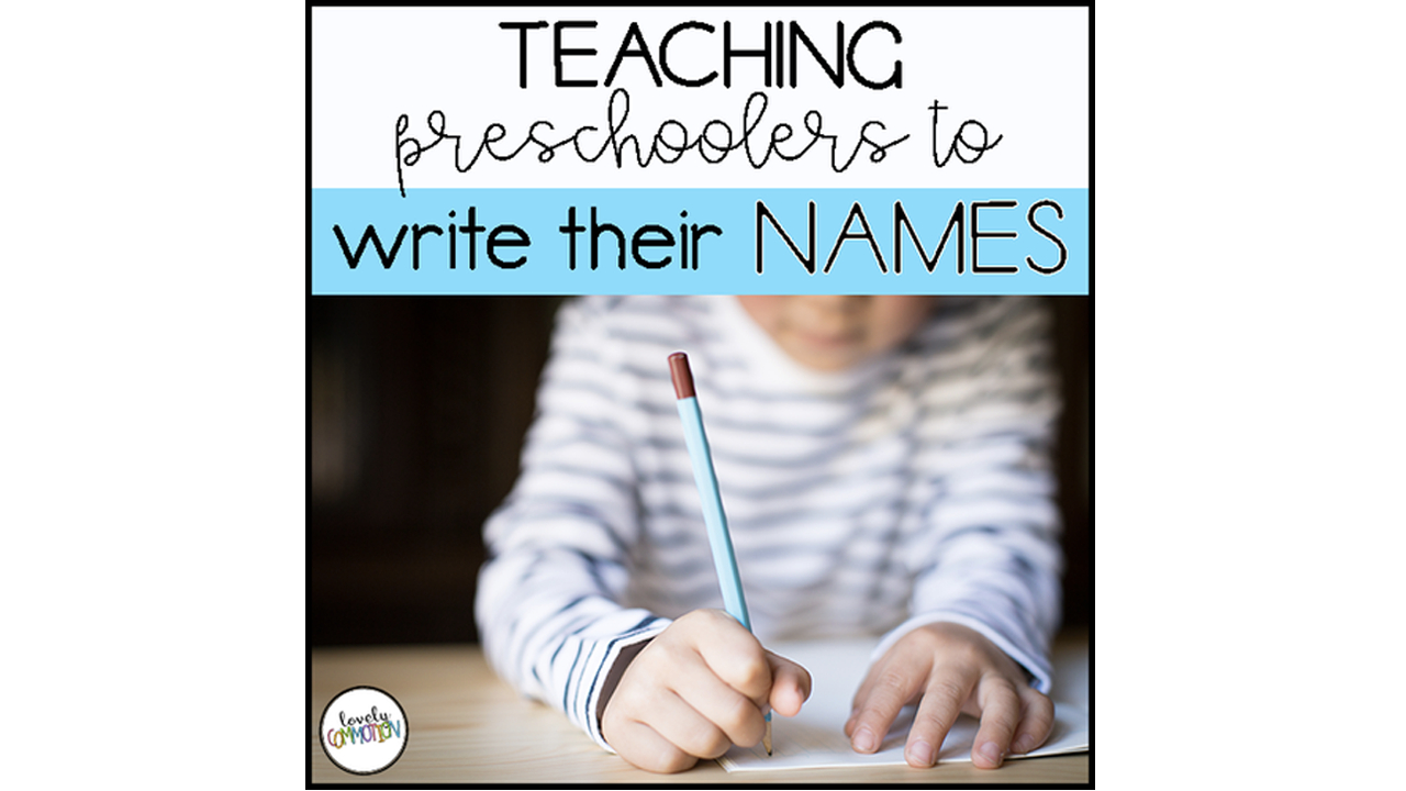 Teaching Preschoolers To Write Their Names in Benefits Of Name Tracing
