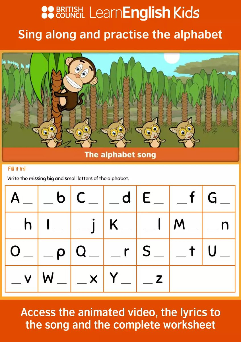 """Teachingenglish On Twitter: """"help Your Young Learners Use inside Alphabet Worksheets British Council"""