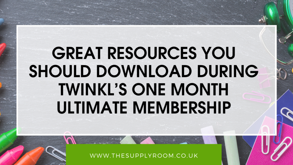 The Supply Room   Twinkl's One Month Ultimate Membership Within Letter S Worksheets Twinkl